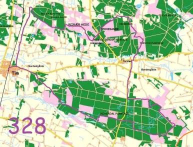 Hoverdal Plantage Og De Gamle Indsander 328 Jyske Vandreture